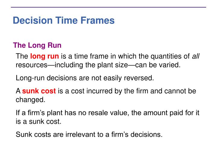 Decision Time Frames