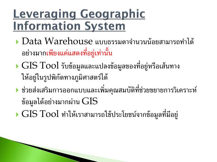 Leveraging Geographic Information System