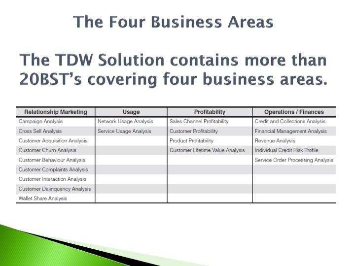 The Four Business Areas