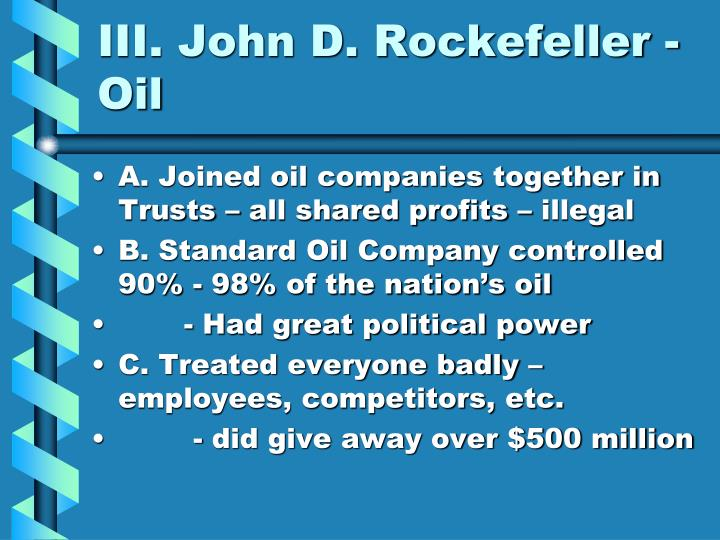 john d. rockefeller captain of industry essay Captains of industry - oil essay example john d rockefeller is the founder of the standard oil company need essay sample on captains of industry.