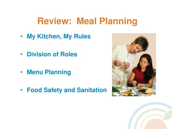 Review:  Meal Planning