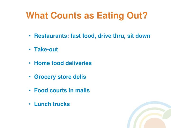 What Counts as Eating Out?