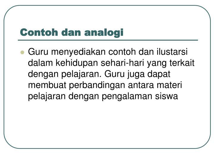 Contoh dan analogi