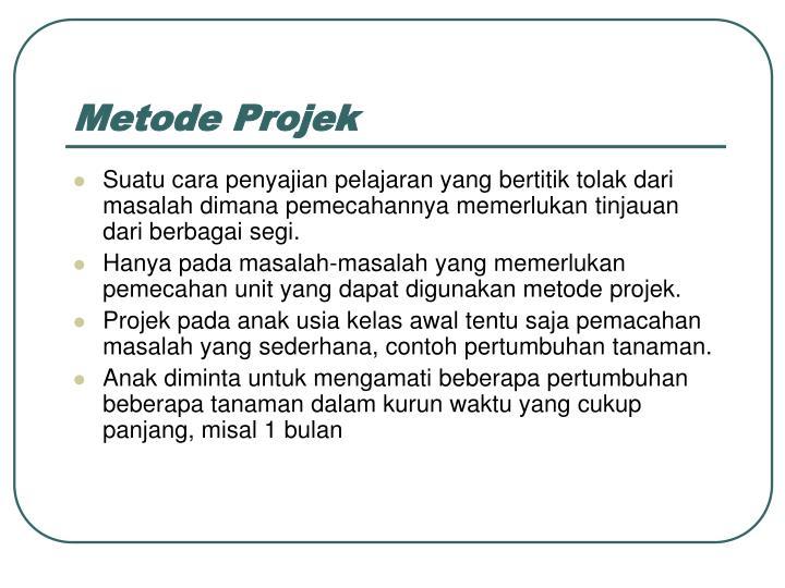 Metode Projek