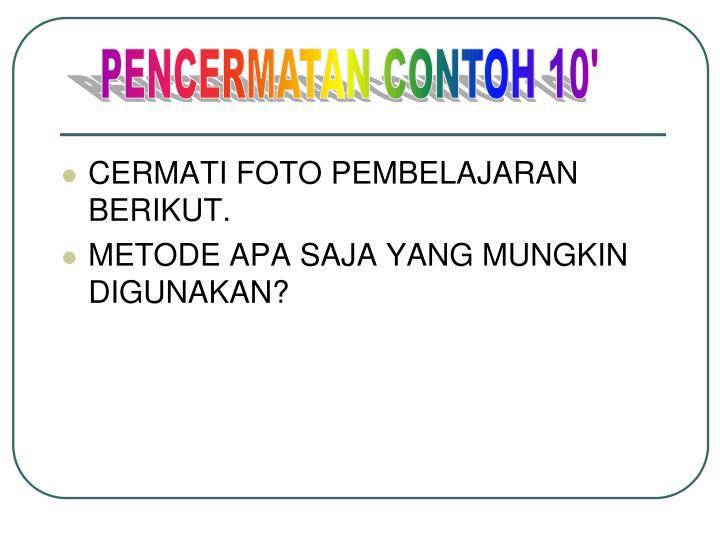 PENCERMATAN CONTOH 10'