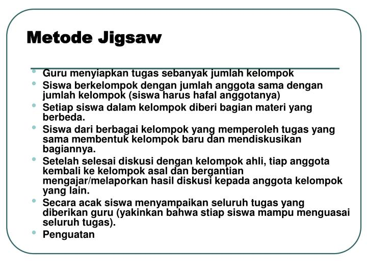 Metode Jigsaw