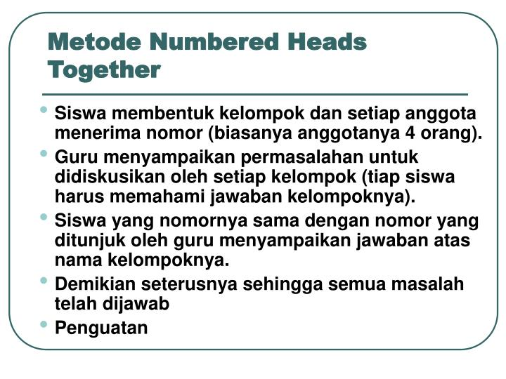 Metode Numbered Heads Together