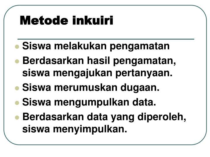 Metode inkuiri