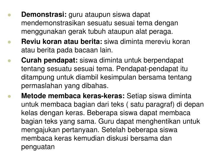 Demonstrasi: