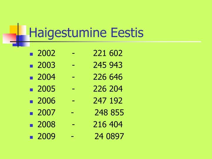 Haigestumine Eestis
