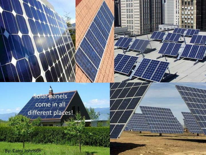 Solar panels come in all different places!