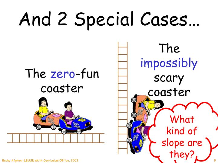 And 2 Special Cases…