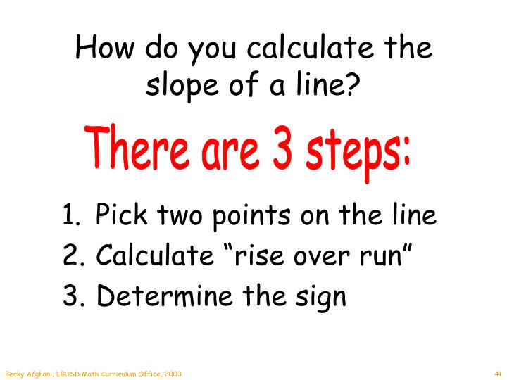 How do you calculate the slope of a line?