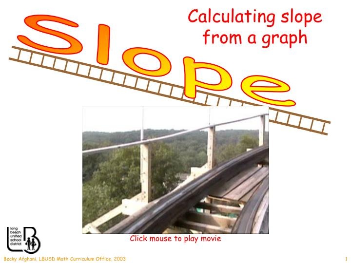 Calculating slope from a graph