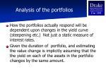 analysis of the portfolios