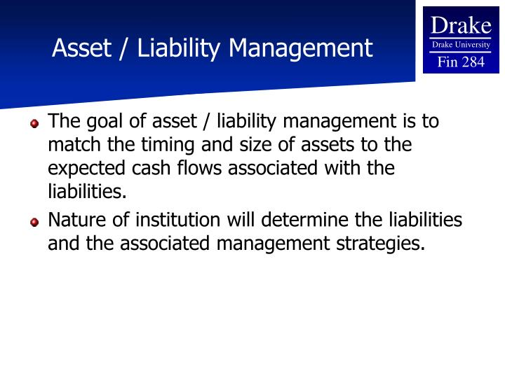 Asset / Liability Management
