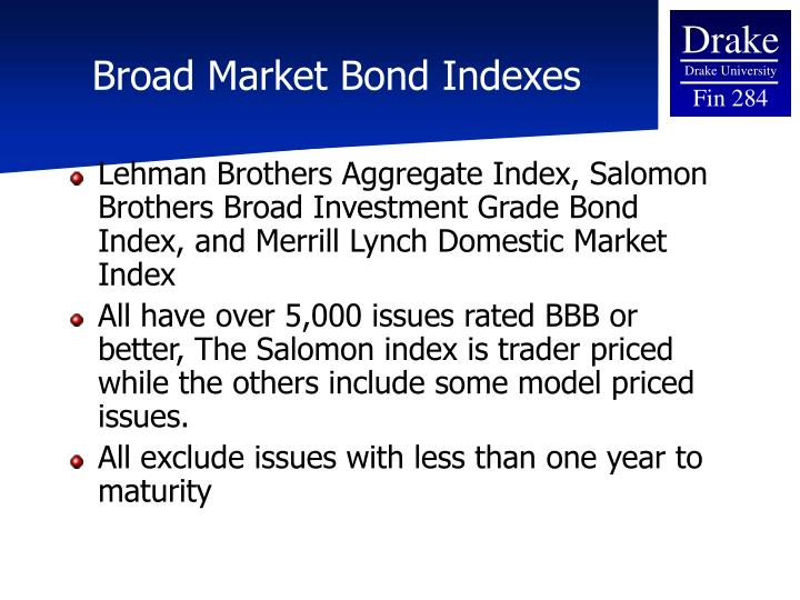 Broad Market Bond Indexes