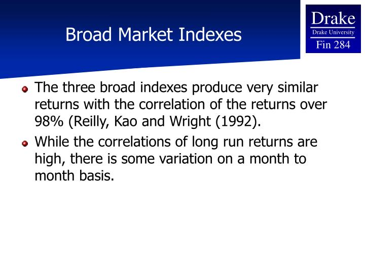 Broad Market Indexes