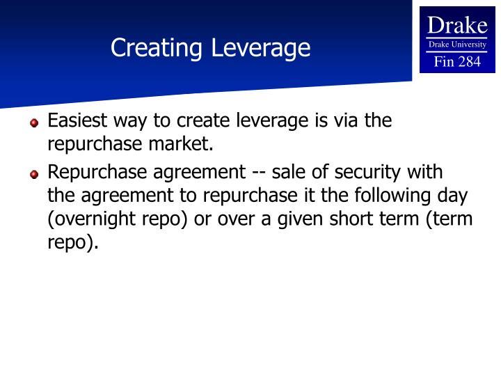 Creating Leverage