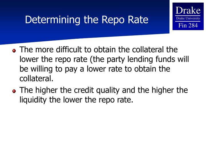 Determining the Repo Rate