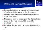 measuring immunization risk