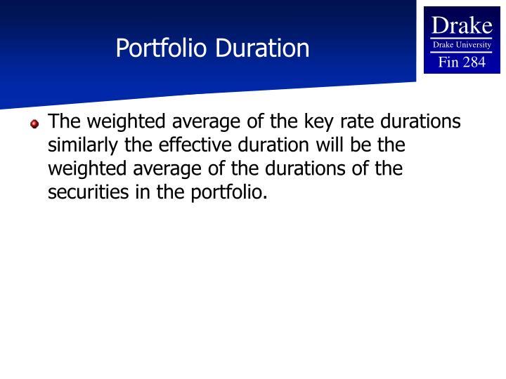 Portfolio Duration