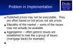 problem in implementation