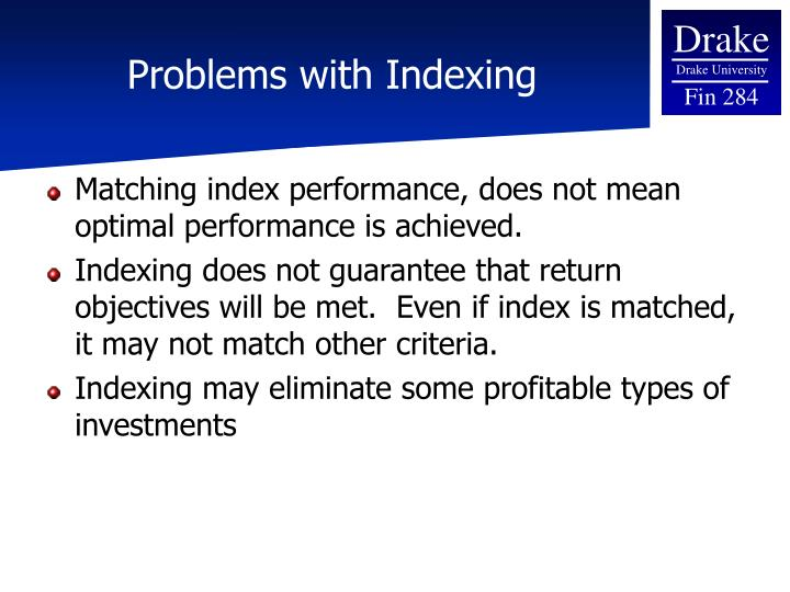 Problems with Indexing
