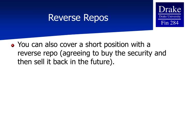 Reverse Repos