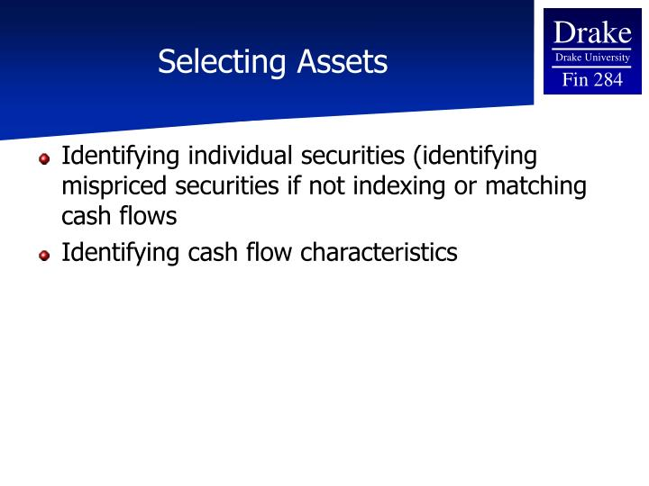 Selecting Assets