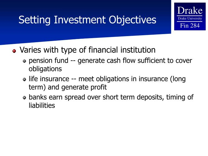 Setting Investment Objectives