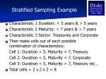 stratified sampling example