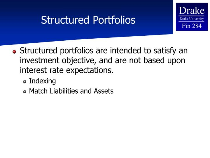 Structured Portfolios