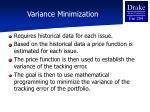 variance minimization