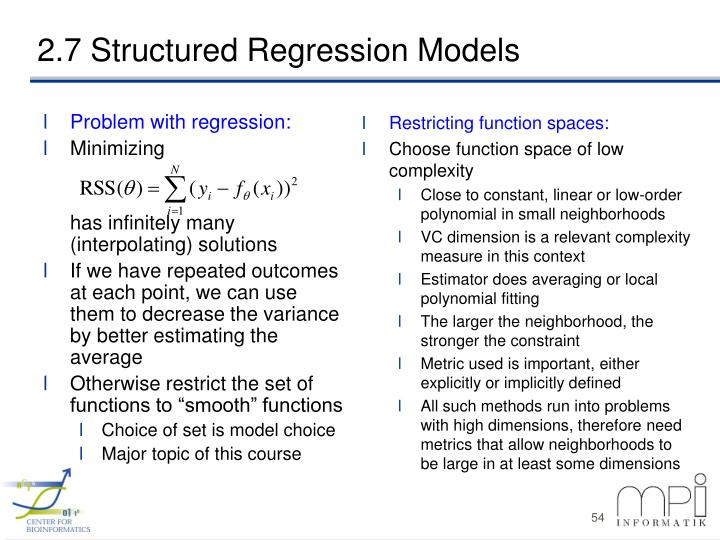 Problem with regression: