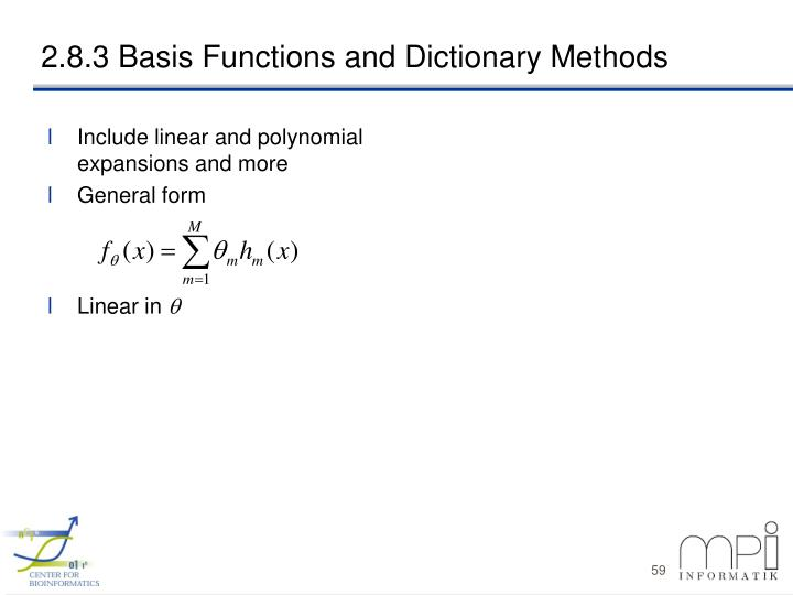 Include linear and polynomial expansions and more