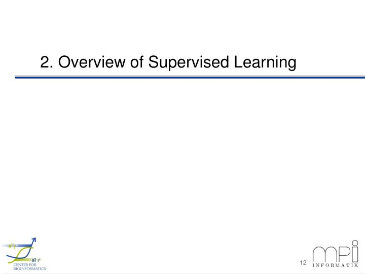 2. Overview of Supervised Learning
