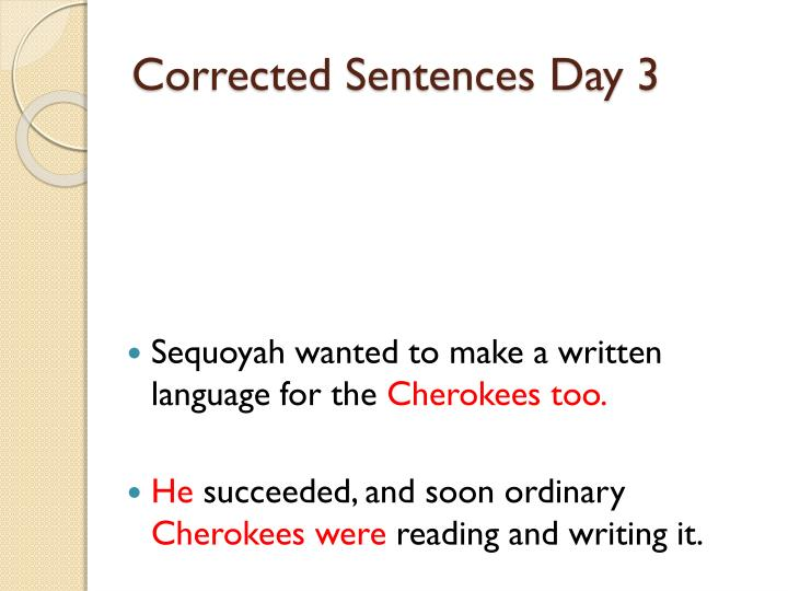 Corrected Sentences Day 3