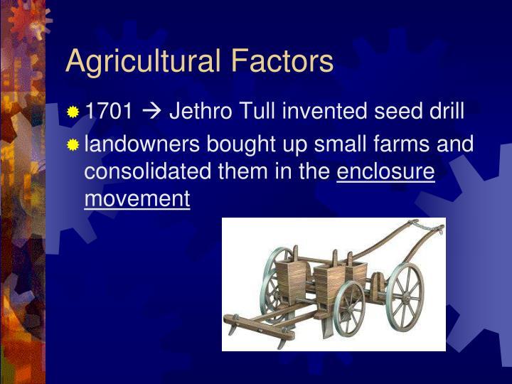 Agricultural Factors