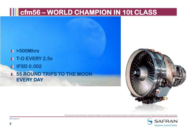 cfm56 – WORLD CHAMPION IN 10t CLASS