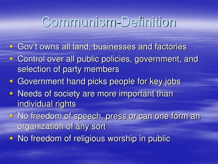 Communism-Definition