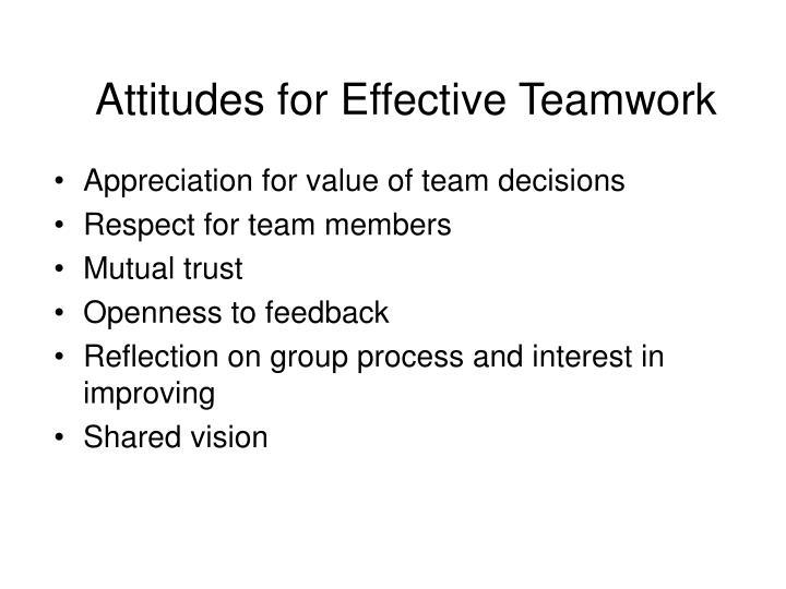 Attitudes for Effective Teamwork