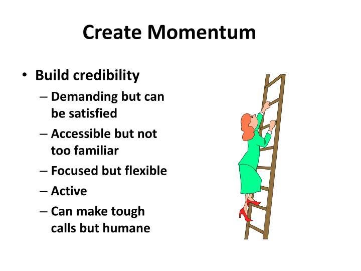 Create Momentum