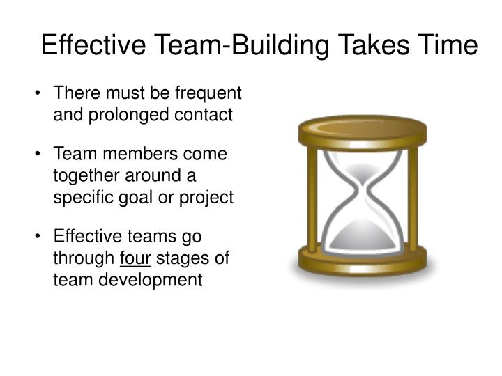 Effective Team-Building Takes Time
