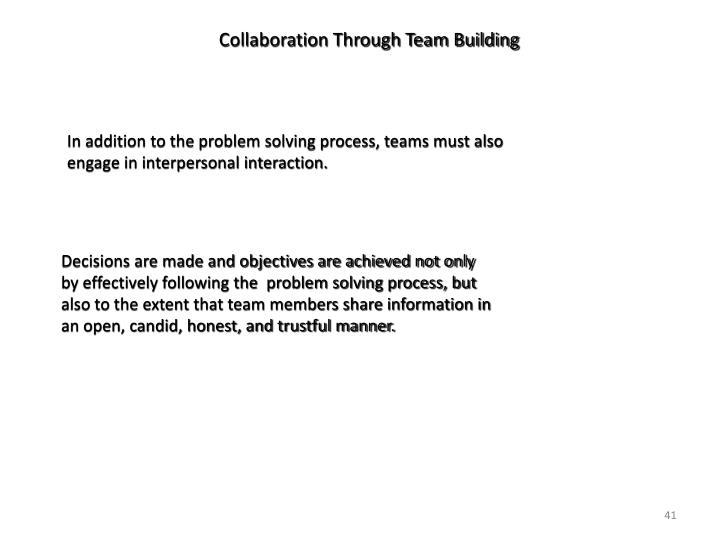 Collaboration Through Team Building