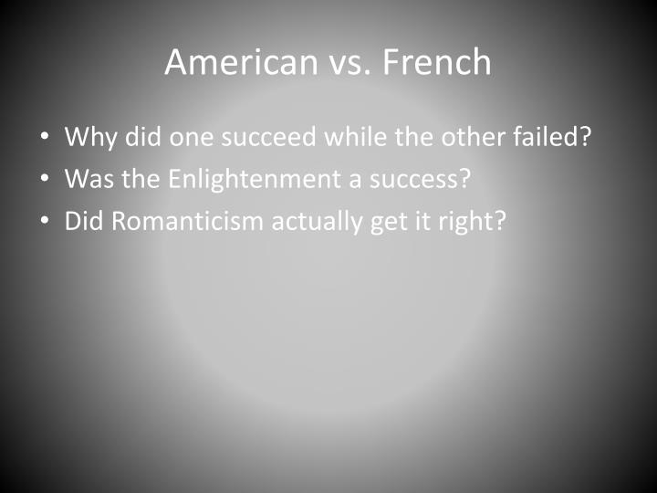 American vs. French
