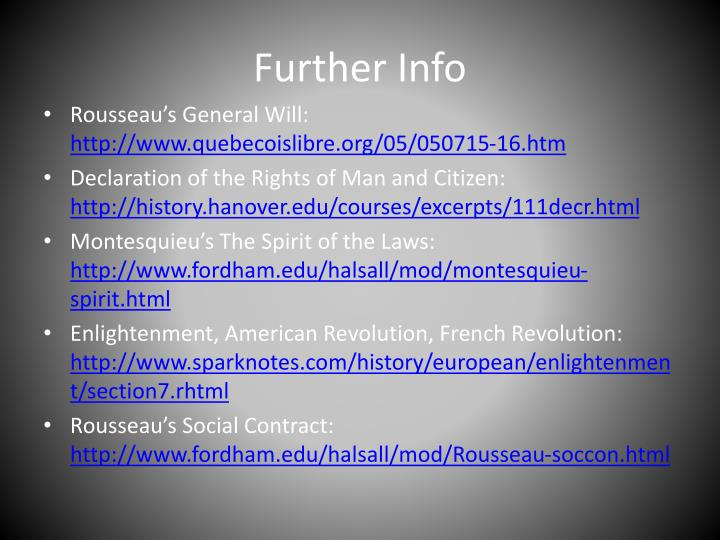 Further Info