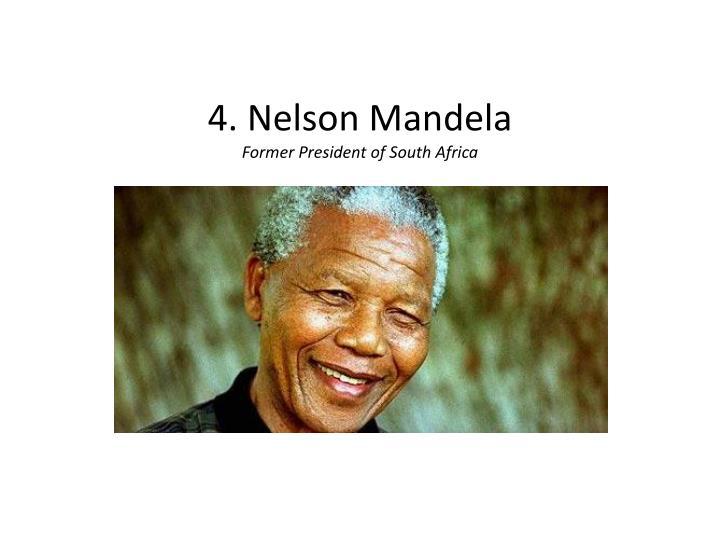 4. Nelson Mandela