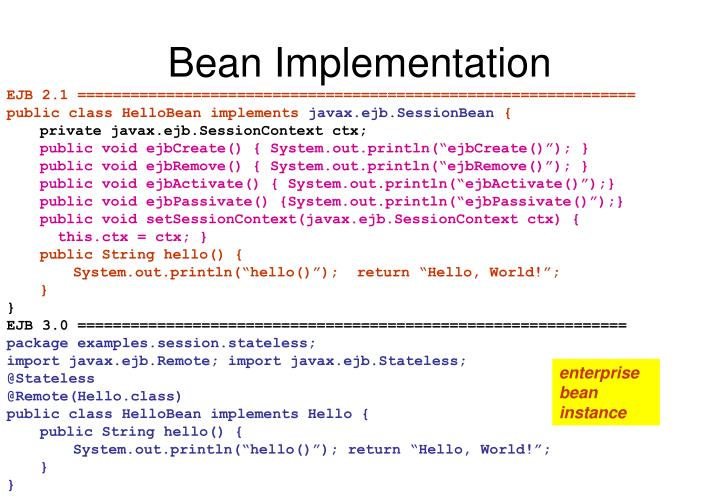 Bean Implementation