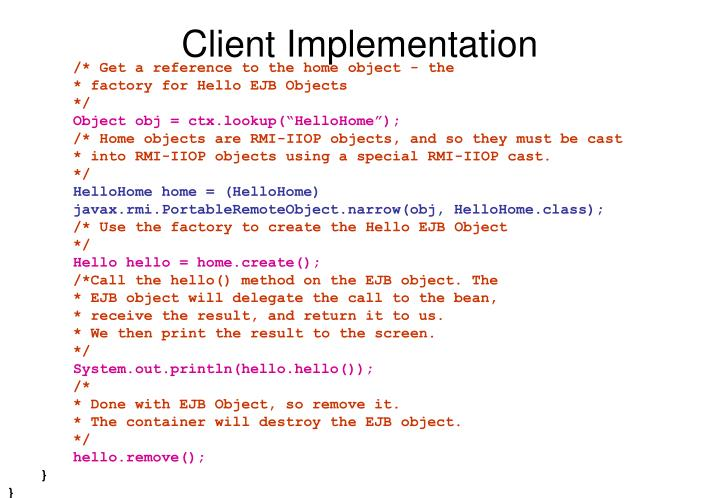 Client Implementation